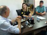 Dirigentes do Sinpol-MS em Ponta Porã foram recebidos pelo prefeito Hélio Peluffo (Foto Divulgação)