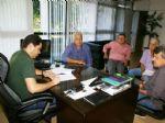 Ato de assinatura de convênio que garante repasse de recursos para melhorias na estrutura física do Hospital São Mateus.