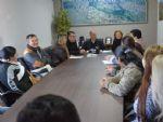 Representantes do Simted foram recebidos em audiência pelo prefeito Hélio Peluffo