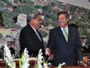 Governador André Puccinelli com prefeito Murilo Zauith de Dourados