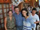 Murilo, junto com a vice, Dinaci Ranzi e a esposa Cecilia comemoram a vitória